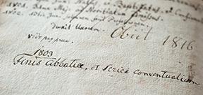 Eintrag in der Moenchschronik, 1803