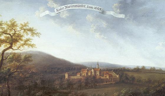 Kloster Marienmünster, Gemälde von Carl Ferdinand Fabricius, 1661